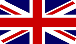 The flag of United Kingdom